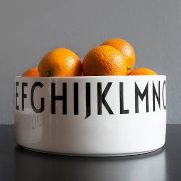 Design Letters - AJ Coupe déco en porcelaine, grand avec des oranges