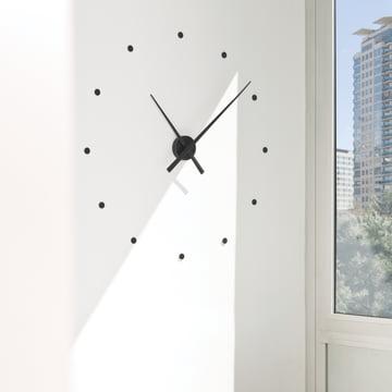 Horloge murale OJ de nomon en noir