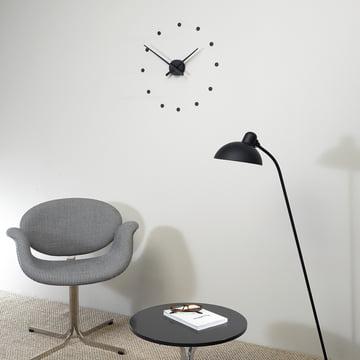 Horloge murale OJ mini de nomon en noir