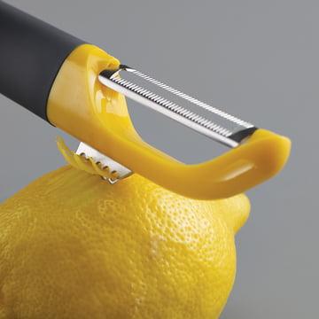 Épluche-légumes économe Multi-peel avec une lame dentelée et zesteur