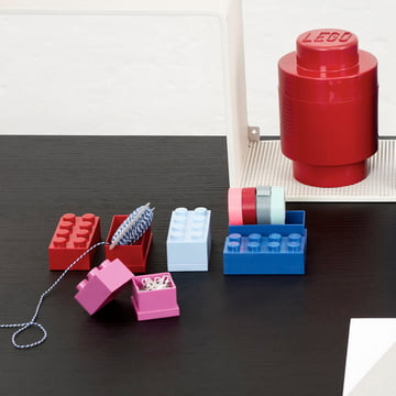 Lego - Mini-Box 8, bleu clair, rose, bleu, rouge