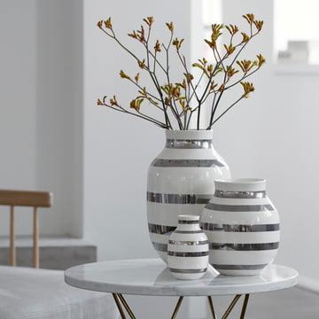 Vases Kähler avec design rayé