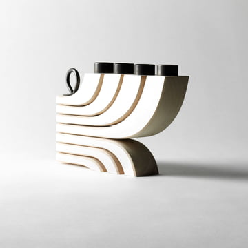 Chandelier Nordic Light à 4 bras de Design House Stockholm en blanc