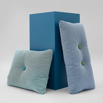 Hay - coussin dot recouvert Steelcut trio en bleu