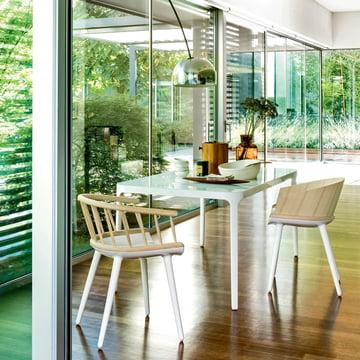 Chaises de salle à manger avec dossier en bois