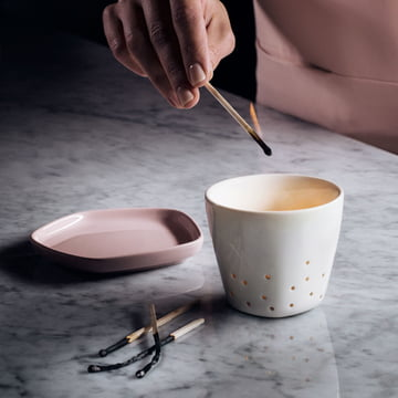 Iittala X Issey Miyake - Support pour bougies chauffe-plat 70 mm, assiette 11 x 11 cm