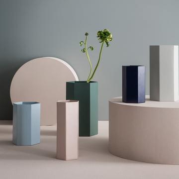 Pot et vase Hexagon dans des couleurs douces