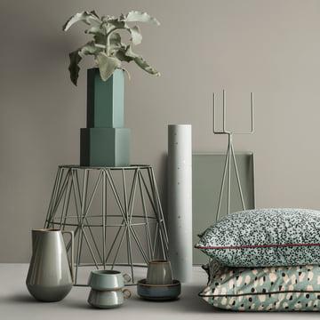 Pot et vase Hexagon avec support pour plantes de ferm Living