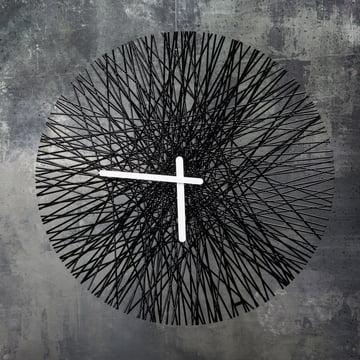 Horloge murale Silk de Koziol en noir
