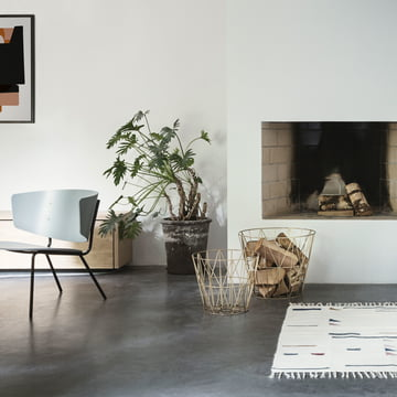 Panier Wire et chaise lounge Herman