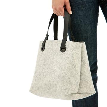 Le sac en feutre Hey Sign Mia en marbre