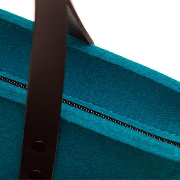 Le sac en feutre Prag de Hey Sign en bleu