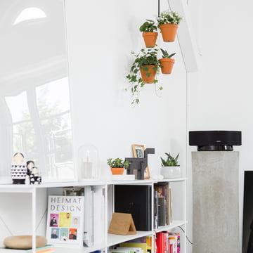 Murs blancs + accessoires et plants = atmosphère de bien-être