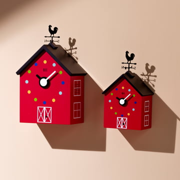 KooKoo - Petite et grande horloge murale RedBarn animaux de ferme