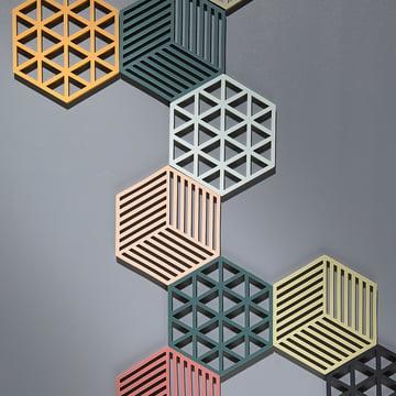 Le dessous de plat Hexagone et Triangle par Zone Denmark