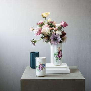 Vase Lyngby avec motif floral de Lyngby Porcelæn