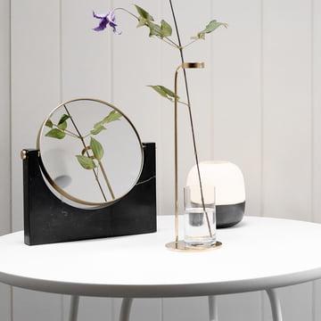 Photophore Glow Hurricane, vase Stem et miroir en marbre Pepe de Menu