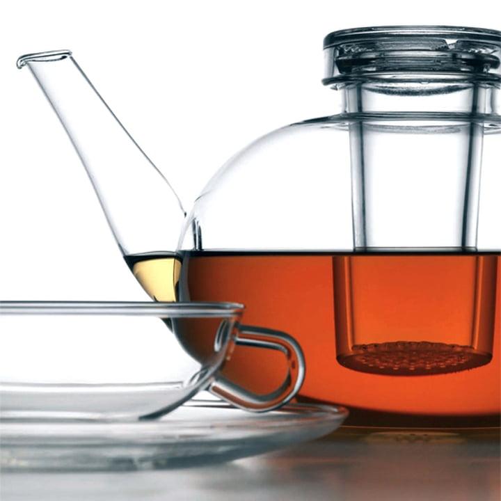 Théière et tasse à thé Wagenfeld