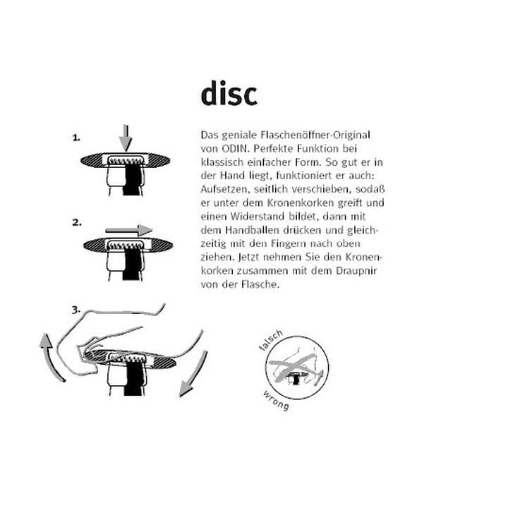 Mode d'emploi du décapsuleur Disc