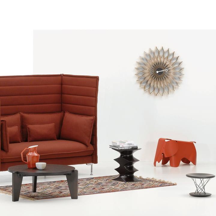 Vitra - Sunflower Clock et Eames Elephant - Ambiance