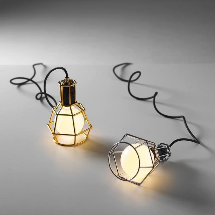 Design House Stockholm - Work Lamp,argent / or - lumineux