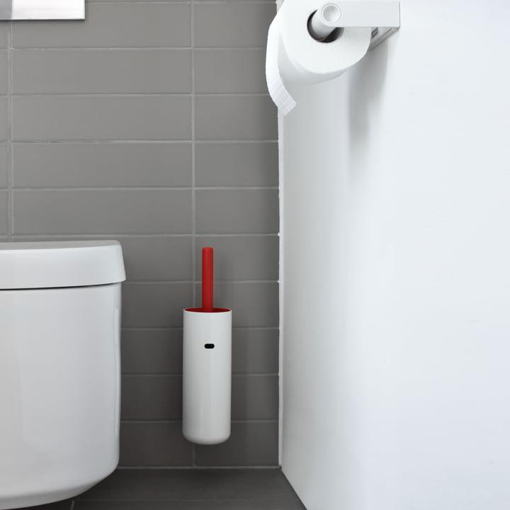 Authentics - Brosse WC murale Lunar, rouge
