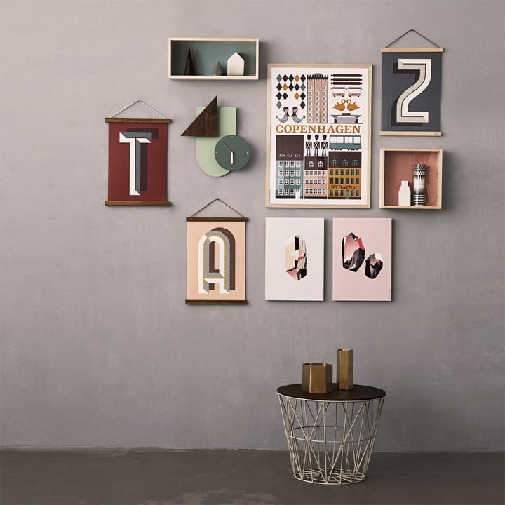 Décoration murale et table d'appoint de ferm Living