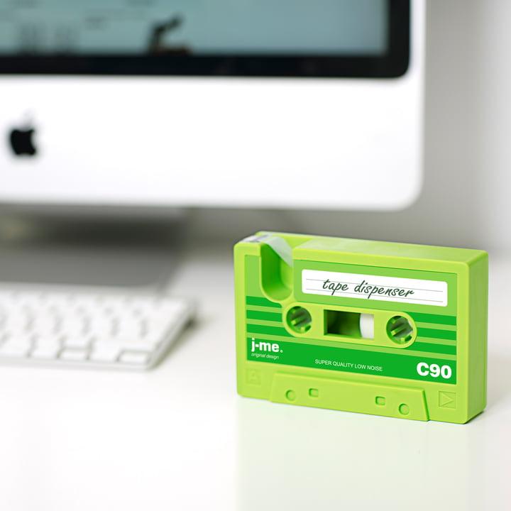 j-me - Dévidoir de ruban adhésif cassette tape, vert
