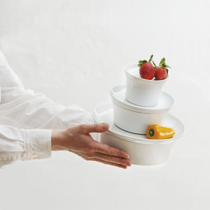 Kahla - plat à gratin Magic Grip avec couvercle, blanc