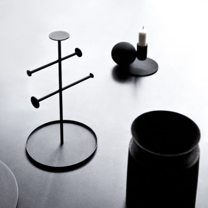Menu - Bougeoir Optical, noir