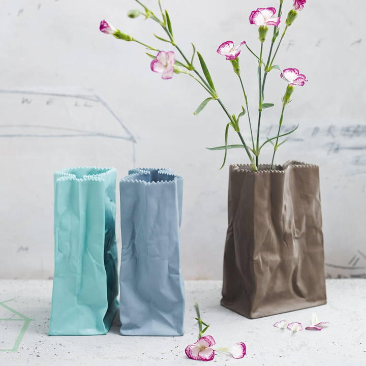 Rosenthal - Vase sac en papier, coloré