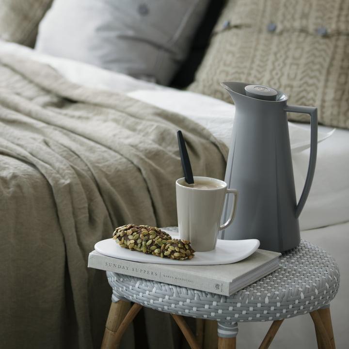 Rosendahl - Mug Grand Cru Service, gris soie avec planchette et pichet isotherme Grand Cru
