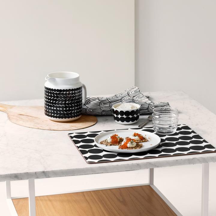 Noir et blanc au petit-déjeuner