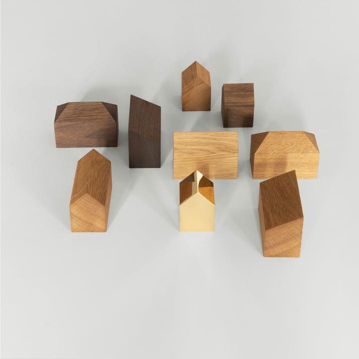 Maisonnettes individuelles en bois pour décoration