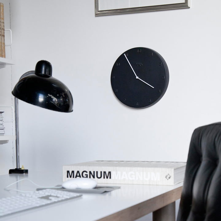 Horloge Ora en noir mat