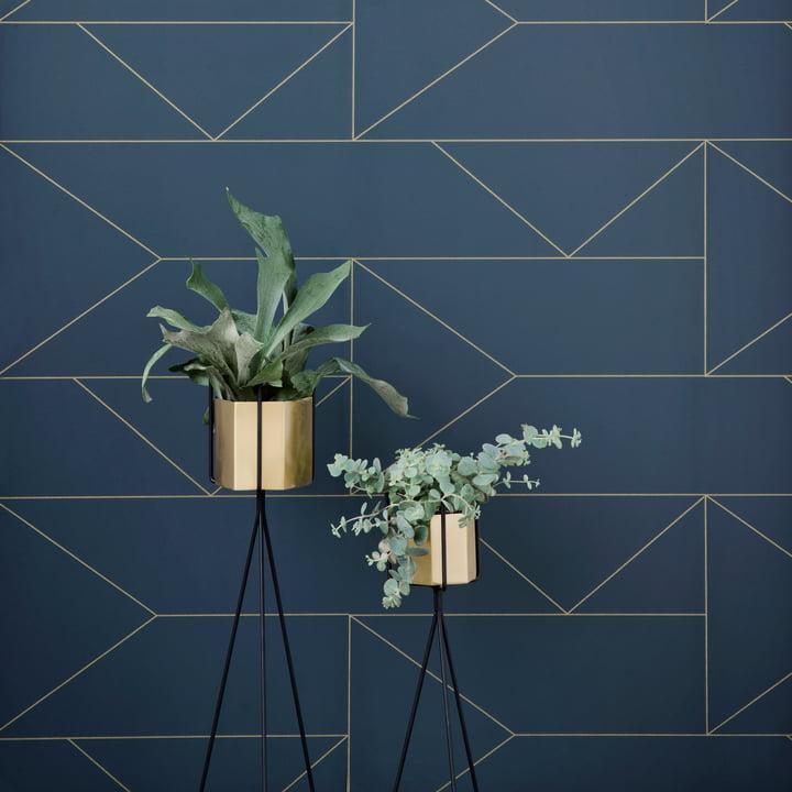 Support sur pied avec vase Hexagon ferm Living