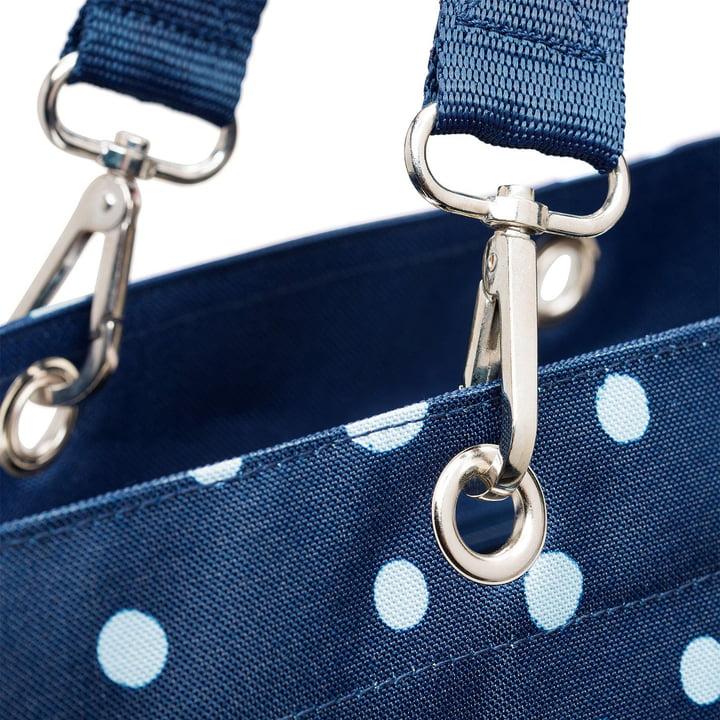 Le sac shopper XL de reisenthel en bleu marine à pois