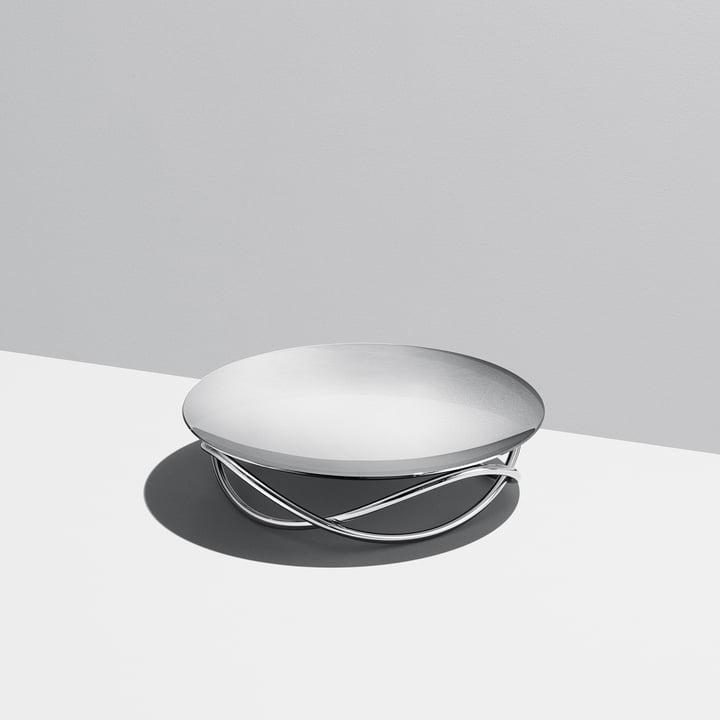 La coupe Glow large de Georg Jensen en acier inoxydable brillant