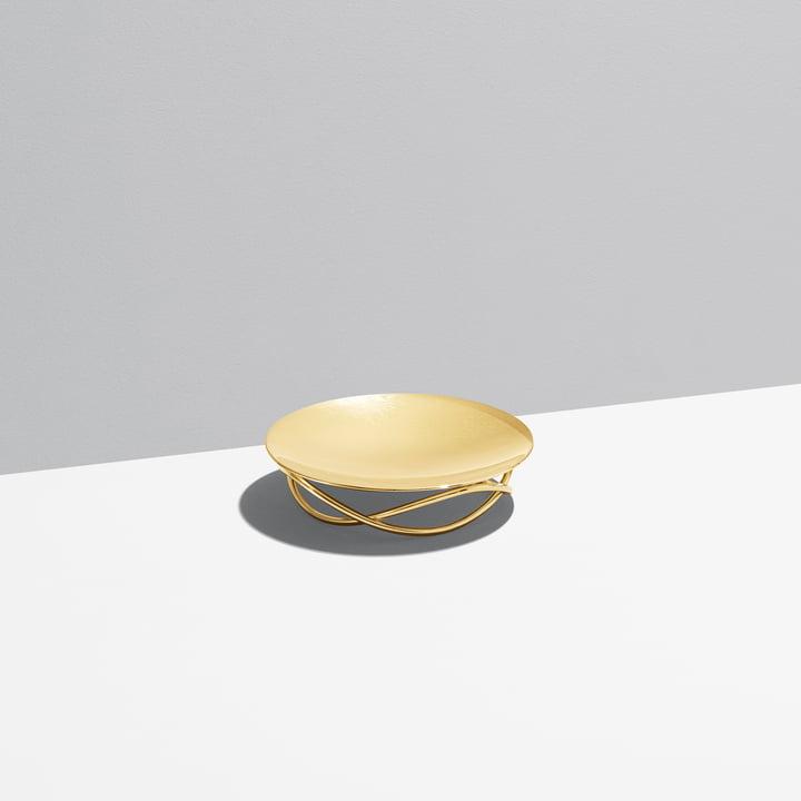 Coupe Glow medium de Georg Jensen en acier inoxydable doré