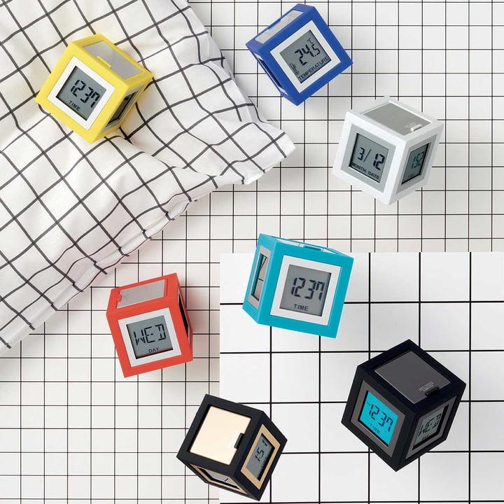 Réveil LCD Cubissimo de Lexon
