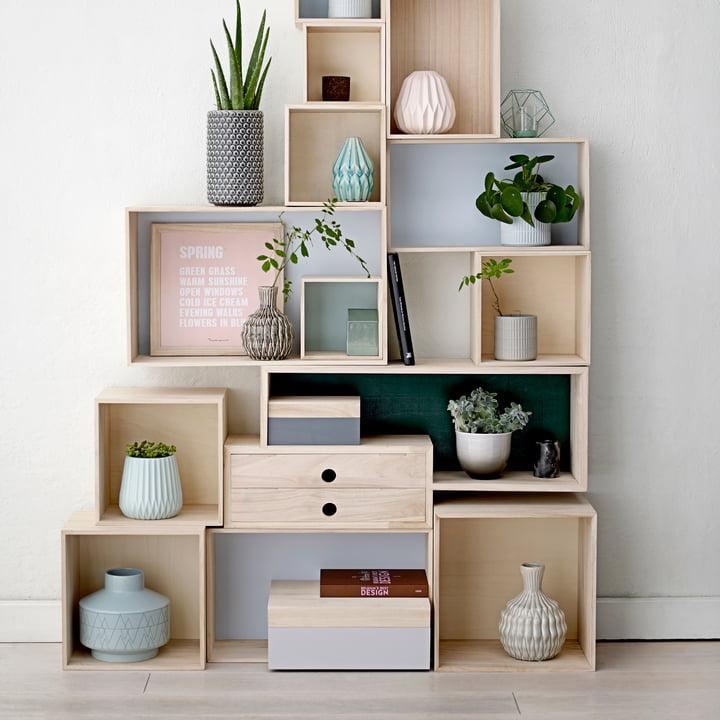 Bloomingville - Storage Box, naturel/tons pastel