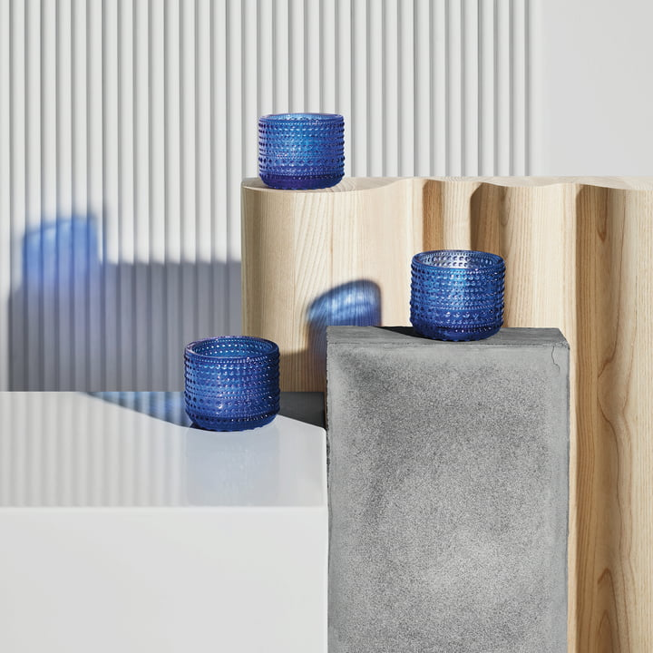 Photophore Kastehelmi 64mm d'Iittala en bleu outremer