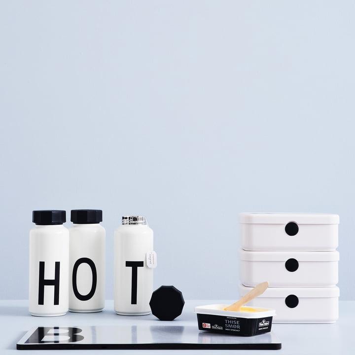 Bouteille isotherme AJ et Lunch Box Personal de Design Letters