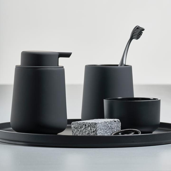 Verre à dent Nova One et distributeur de savon par Zone Denmark