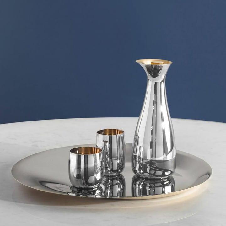 Coupe, carafe, verre et verre à vin Norman Foster de Stelton