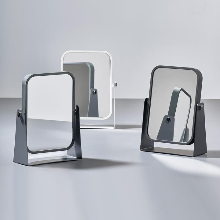 Le miroir de table de Zone Denmark avec 2surfaces miroitantes et effet grossissant
