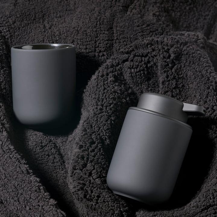 Zone Denmark - Distributeur de savon et gobelet à dents Ume