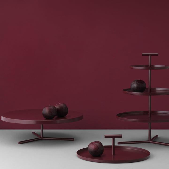 Plat à gâteau, étagère et plateau Glaze de Normann Copenhagen