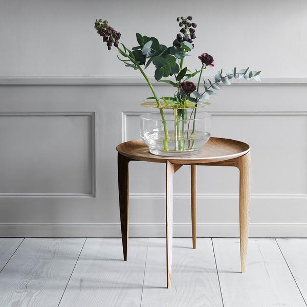 Vase design Ikebana sur table d'appoint par Fritz Hansen