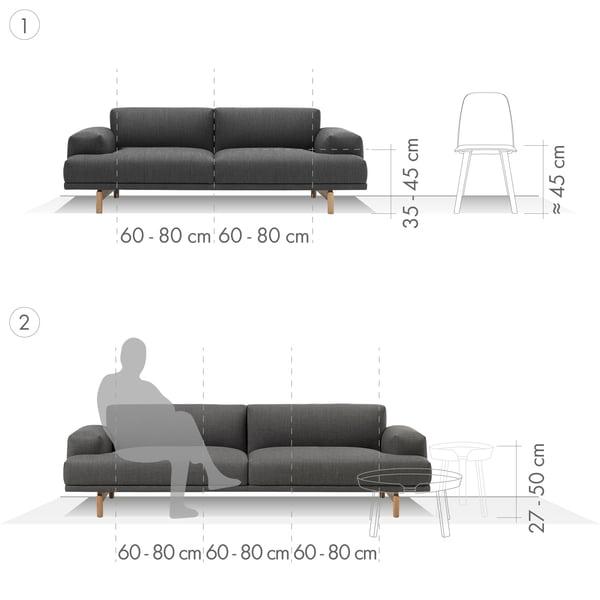Canapé Graphique 1 - 2 places et 3 places